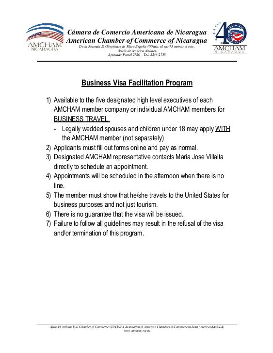 Business Visa Facilitation Program