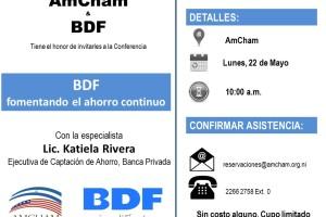 Conferencia: Fomentando el ahorro continuo – BDF Nicaragua