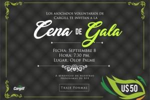 Cena de Gala – A beneficio de sus programas de RSE.