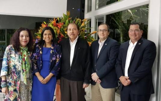 Directores de AmCham se reúnen con Presidente Ortega y Vicepresidenta Murillo