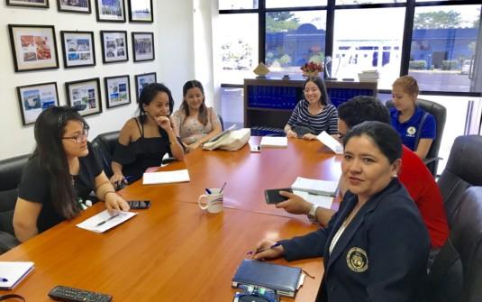 Reunión de coordinación con edecanes UNICIT para VI Feria Nacional de Empleo