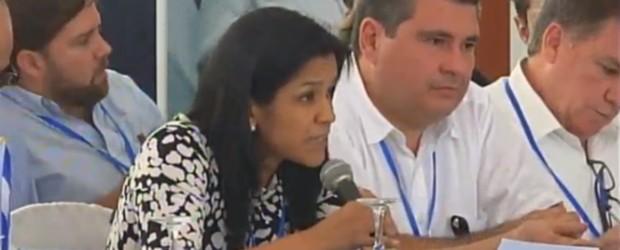 Presidenta de AmCham en Diálogo Nacional.